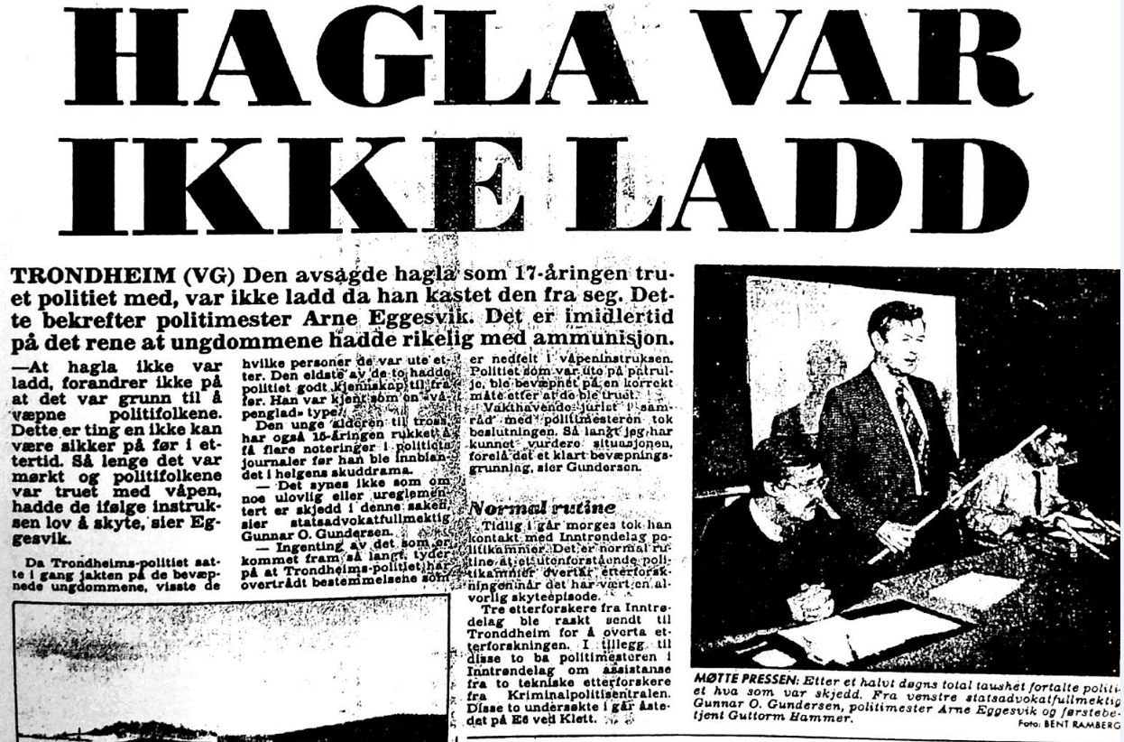 VG 2 Hagla var ikke ladd